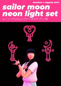 """xldkx-cc: """" Sailor Moon Neon Light Set not to sound like a dramatic office email, but here's hoping this small cc drop finds you well in these trying times. i recently learned how to make neon signs. Sims 4 Mods Clothes, Sims 4 Clothing, Sims Mods, Sims 4 Cc Packs, Sims 4 Mm Cc, Dj Like, Sims Challenge, Sims Stories, The Sims 4 Skin"""