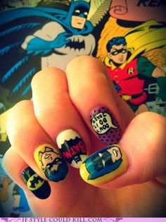 Kapow! This comic quintet puts the zing in my step. Or my manicure. You know.