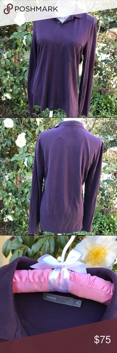 Vince💜Long Sleeve Top! Sz M Vince💜Long Sleeve Top! •EUC •Pretty purple shade •Goes great with jeans or dressy pants/skirt Vince Tops Button Down Shirts