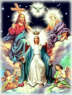 Queen of heaven and earth. Catholic Prayers, Catholic Art, Catholic Saints, Religious Art, Jesus Mother, Blessed Mother Mary, Blessed Virgin Mary, Catholic Pictures, Pictures Of Jesus Christ