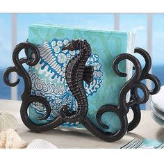 Sea Horses Napkin Holder Set - Furniture, Home Decor & Home Furnishings, Home Accessories & Gifts | Expressions