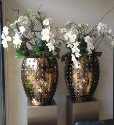 Vase druppel gold / black
