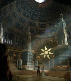 Sept of Baelor — Game of Thrones season 3 concept art from Karakter Design Studio