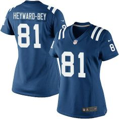 $109.99 Nike Elite Women's Nike Indianapolis Colts #81 Darrius Heyward-Bey Elite Blue Team Color Jersey