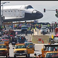 Space Shuttle Endeavour's final move to the California Science Center. 10/13/12