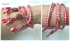 Handmade Martenitsa  Bracelet   Bulgarian by IvasArtHouse on Etsy