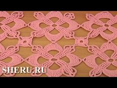 Octagons Crochet Tutorial 9 часть 2 из 2 Вязаный мотив - YouTube