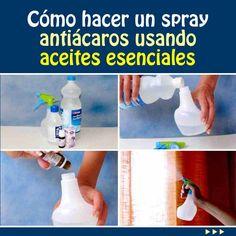 Cómo hacer un spray antiácaros usando aceites esenciales
