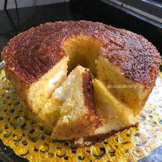 O Bolo de Milho com Requeijão Cremoso é uma receita deliciosa e fácil de preparar da Dayanne Ribeiro (@coisasdenany). Se você quer um bolo maravilhoso para o café da tarde em família, o bolo de milho com requeijão cremoso é a sua melhor escolha. Isso porque ele fica com gosto de bolo de milho de fazenda e, ainda por cima, é fofinho e cheio de requeijão cremoso por dentro. Pode fazer o bolo de milho com requeijão cremoso sem medo, pois, com certeza, toda a sua família vai adorar! Coco, Mousse, French Toast, Muffin, Food And Drink, Low Carb, Gluten, Banana, Chocolate