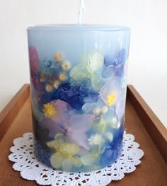 Diy Flowers Candle