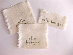 Door Dec Idea paper & ink: diy: fabric label name tags