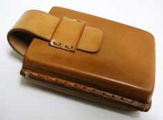 Moulded leather camera case..