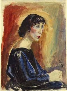Otto Dix, Portrait (Portrait Frau M.)