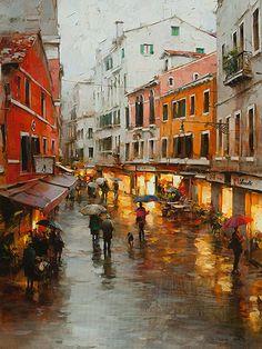 """Dmitry Danish """"Rainy Mood, Venice"""""""