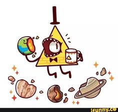 Bill Cipher eating planets for breakfast Gravity Falls Anime, Gravity Falls Fan Art, Gravity Falls Bill Cipher, Gavity Falls, Fall Memes, Desenhos Gravity Falls, Bipper, Reverse Falls, Dipper Pines