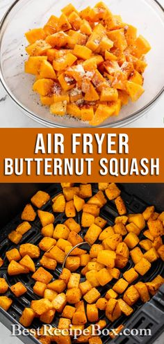 Try our Air Fryer Butternut Squash recipe. It's easy to make at home and it's a healthy side dish for the Holidays.