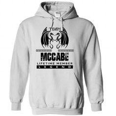 Cool 01-04 Team MCCABE Lifetime Member Legend T shirts