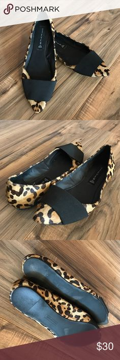 Steven by Steve Madden leopard flats Amazing pointed toe flats with leopard print calf hair. In great condition! Steven by Steve Madden Shoes Flats & Loafers