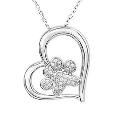 ASPCA TenderVoices Diamond Paw and Heart Pendant 1/6ctw | Shop REEDS Jewelers