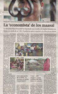 """La """"economista"""" de los maasai"""