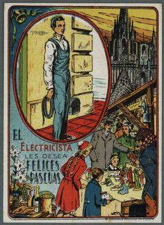 Felicitaciones navideñas antiguas- El electricista 04
