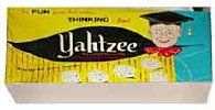 Yahtzee - how many games of this did I play with my mom and dad over the years? Too many to count.. great memories! And we made our own score papers!