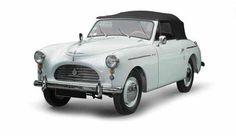 AUSTIN A40 SPORT - Energie : ES - Couleur : BLANC - 1ere M.E.C : 30/06/1951 - Puissance : 7 - carte grise française de collection - #3139256 moteur n° 9cg uh 1066 - Présentée au Salon de Londres 1949, la A40 sport cabriolet ne fut produite qu'entre 1951 et 1953 à seulement 4011 exemplaires. Est. 20 000- 22 000 €, Jakobowicz, 29 nov. 2015, Maincy