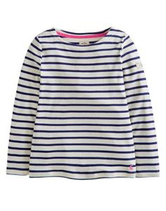 Joules Girl's Stripy Top, Royal Blue Stripe.