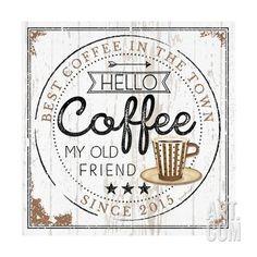 Hello Coffee Kunstdruck by Jennifer Pugh at Art.com