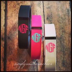 Fitbit Flex Monogram Fitbit Monogram by SimplySouthernChics Fitbit Bracelet, Fitbit Bands, Pandora Bracelets, Pandora Jewelry, Pandora Charms, Apple Watch Nike, Monogram Decal, Wearable Technology, Apple Watch Series 3