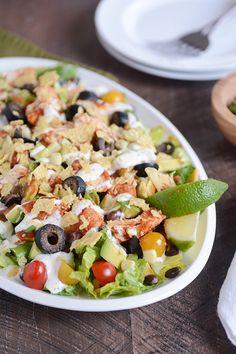 Chicken Taco Salad {InstantPot, Slow Cooker, or Stovetop} | Mel's Kitchen Cafe
