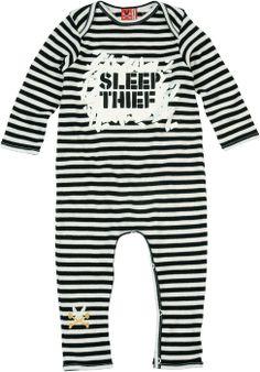 Black and White Sleep Thief Onesie - Sweet Onesies