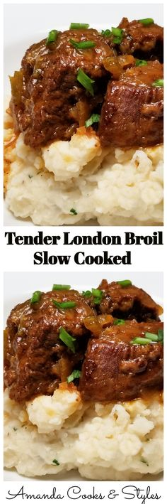 Super tender and delicious slow cooked London broil.