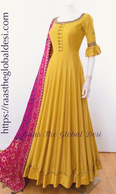 Shop premium range of Anarkali gown online USA,Indian clothes online, Indian dress near me , gown dress , wedding suits long dress and Indian Gowns Dresses, Indian Fashion Dresses, Dress Indian Style, Indian Designer Outfits, Pakistani Dresses, Indian Outfits, Indian Clothes, Indian Gown Design, Indian Long Dress