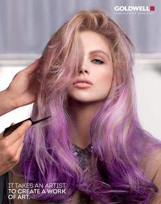 Stunning pastel purple balayage. Goldwell Color Campaign 2013 #hair #goldwell #ombre #balayage #uprple