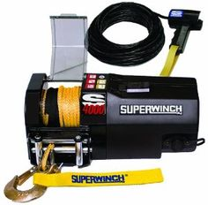 Superwinch 1440200SR S4000, 12 VDC winch, 4,000lb/1814 kg single line pull with roller fairlead, 30' remote, & synthetic rope by Superwinch. $444.95. The Superwinch S4000 SR 12 VDC Trailer Winch is designed for fast and easy installation, and is the ideal choice for all your trailer winching needs. Synthetic rope makes the winch light and safer to use.  It has full metal gears that deliver power and performance. Preferred by the professionals for safe, dependable ...