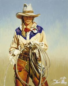 With Attitude by Terri Kelly Moyers Western Cowgirl Cowboy Gear Foto Cowgirl, Cowgirl And Horse, Western Cowboy, Texas Western, Cowboy Gear, Pin Ups Vintage, Images Vintage, Jessy James, Cow Girl