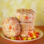 Quick & Easy Candy Corn White Chocolate Rice Krispies Treats