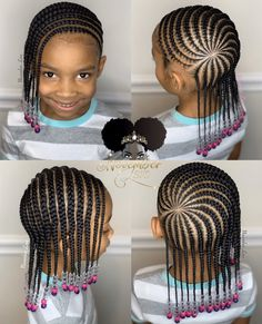 Gorgeous Braids for kids Toddler Braided Hairstyles, Black Kids Hairstyles, Cute Little Girl Hairstyles, Little Girl Braids, Baby Girl Hairstyles, Natural Hairstyles For Kids, Braids For Kids, Natural Hair Styles, Braid Styles For Girls