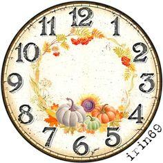 Clock Face Printable, Kitchen Clocks, Face Design, Easy Home Decor, Decoupage, Photo Wall, Illustration, Miniatures, Scrapbook