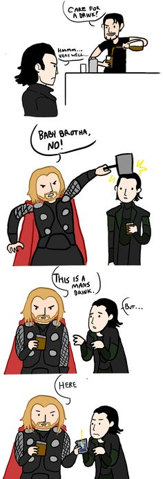 Thor and Loki by ~CJPetee