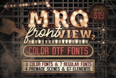 Ad: Marquee Front View - Color Fonts by tvartworks on @creativemarket