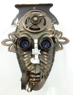 """""""Living Fossil""""  found object assemblage mask using antique typewriter parts by Assemblique™"""