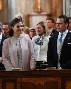 The Swedish Royal Family attend a Te Deum thanksgiving service in the Royal Chapel on April 22, 2016