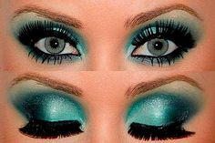 purple and blue eye make-up Wow! Love the bright purple! Make Up Looks, Beauty Make Up, Hair Beauty, Teal Eyeshadow, Eyeshadow Styles, Eyeshadow Makeup, Makeup Contouring, Eyeshadow Ideas, Makeup Looks