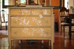 birds and branches dresser