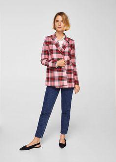 Check structured blazer | MANGO