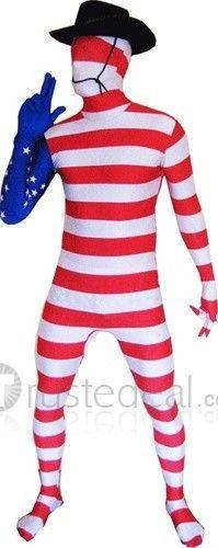 Lycra Full Body America Flag Zentai Suit