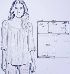 Trendy Sewing Blouse Pattern Free Costura Source by ideas sewing Dress Sewing Patterns, Sewing Patterns Free, Free Sewing, Sewing Tutorials, Clothing Patterns, Shirt Patterns, Sewing Crafts, Diy Crafts, Fashion Sewing
