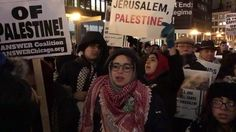 Palestinians and solidarity activists in Chicago protest tonight in response to Trumps recognition of Jerusalem as Israels capital. Chicago is home to the largest Palestinian community in the United States. [Video by CBS Chicago] . . . . #Palestine #Chicago #Jerusalem #Palestinian #Illinois #Alquds #Occupation #Israel #Trump #protest #holyland #USA #community